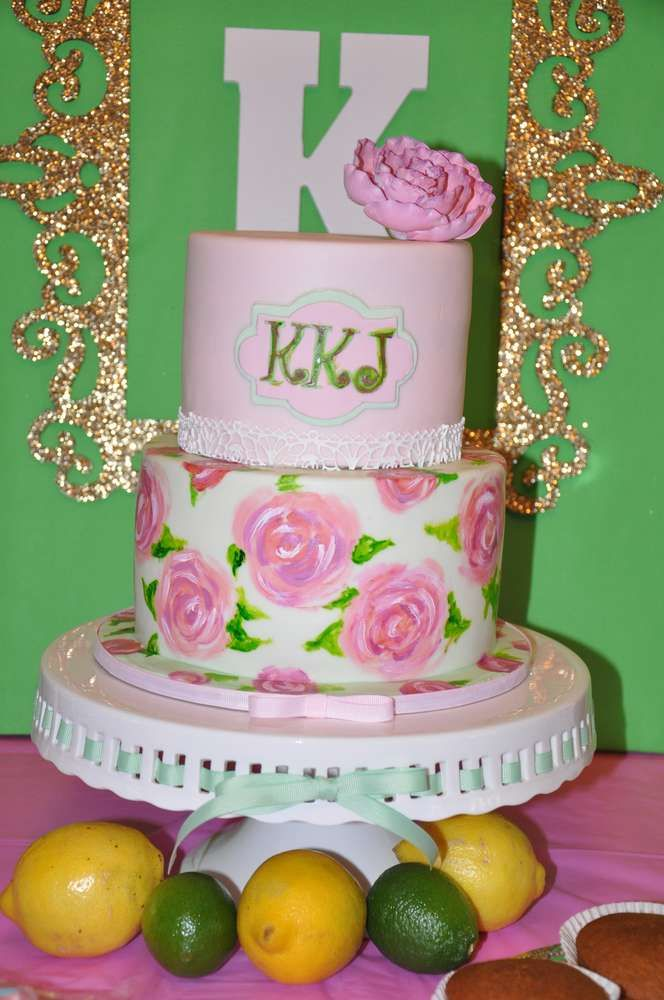 Lilly Pulitzer Birthday Party Ideas Birthdays Cake and Birthday cakes