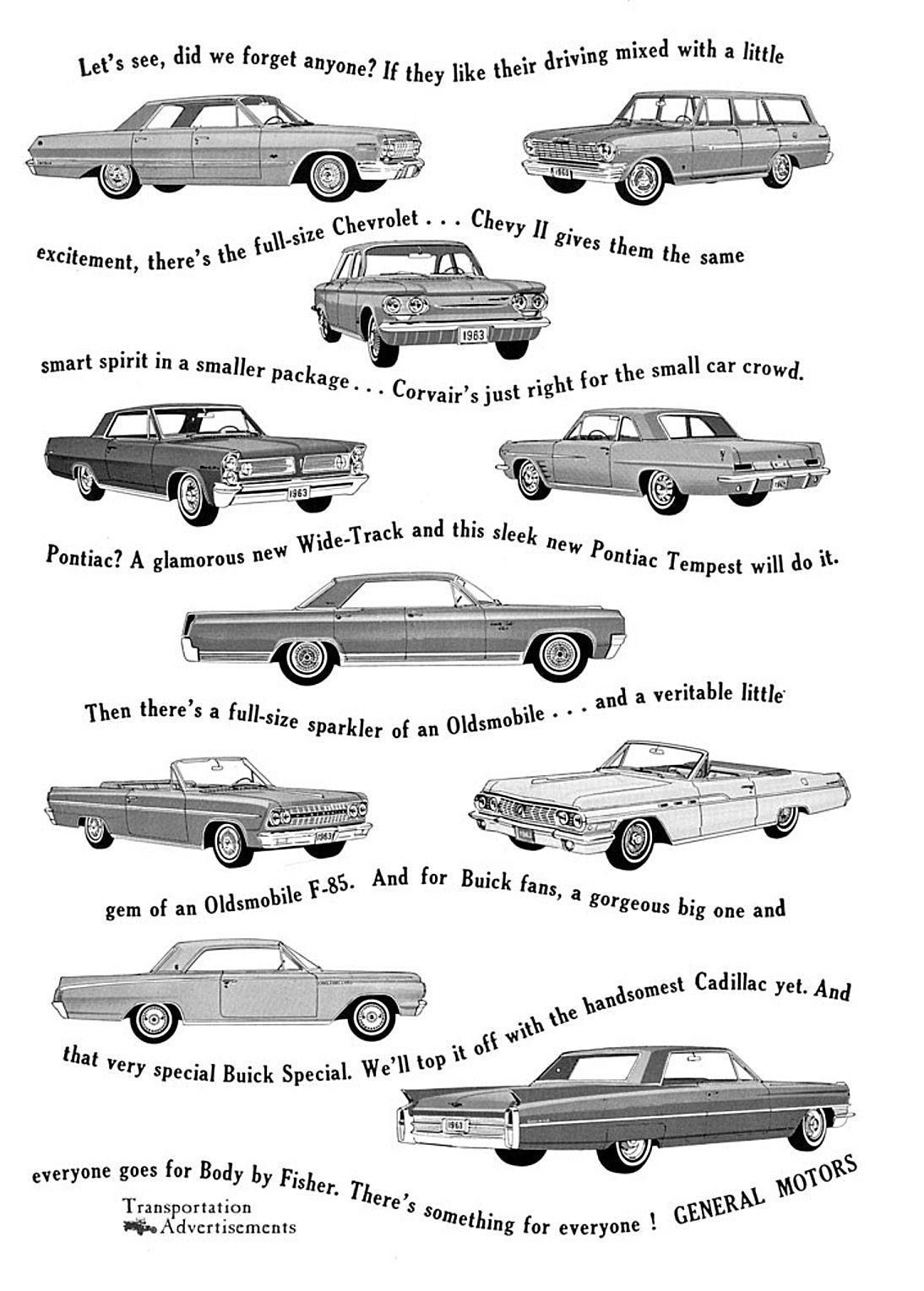1963 Gm Ad Small Cars Car Ads Classic Cars