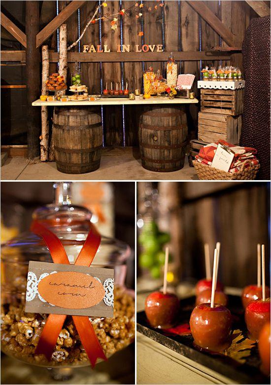 Rustic Fall Wedding Ideas Fall desserts Wedding and Caramel apples