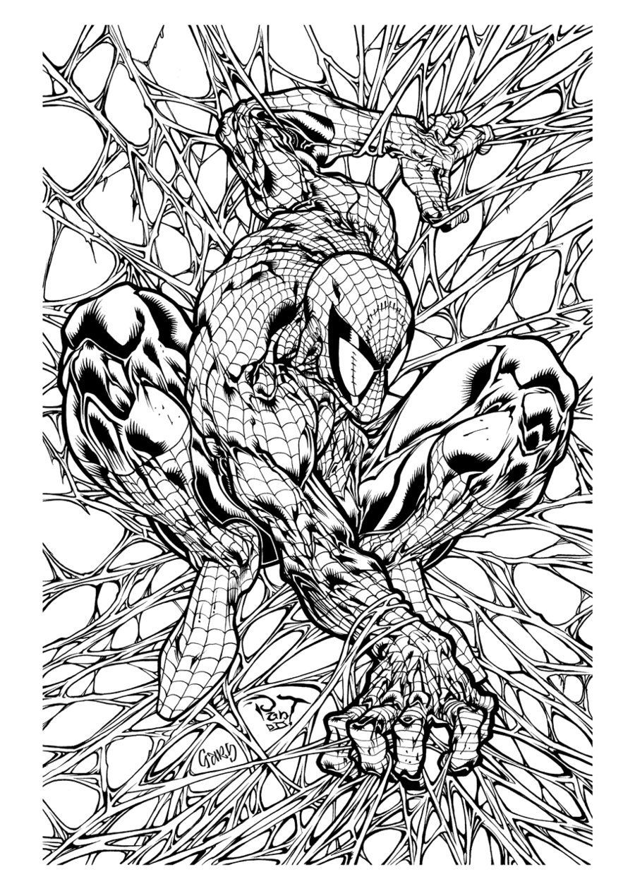 Amazing spiderman by pant inks by gz12wk Spiderman