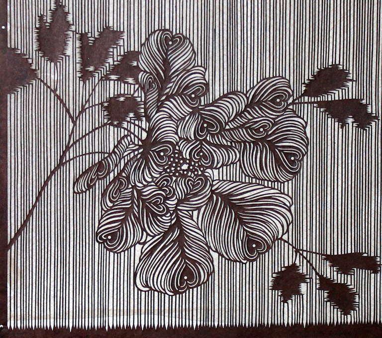 5c2bafc3e Antique Japanese Kimono Fabric Stencil Katagami at 1stdibs   art in ...