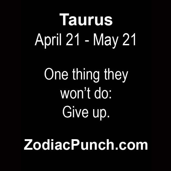 Taurus facts from ZodiacSigns.com