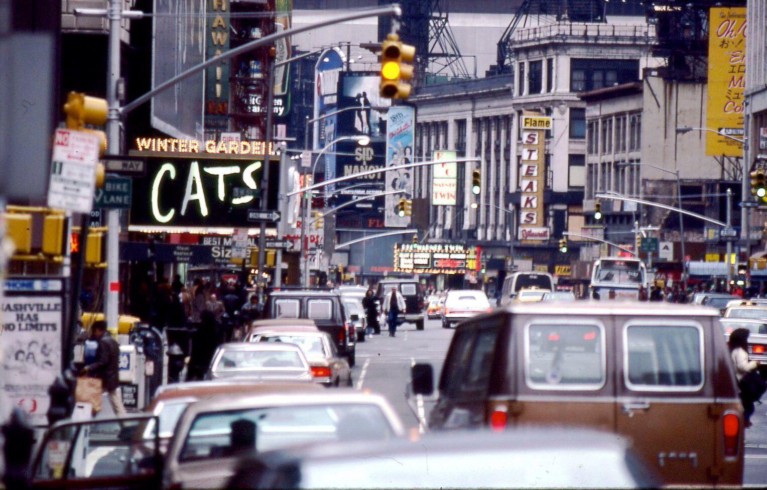 Broadway marquee Cats Winter Garden Theatre Winter