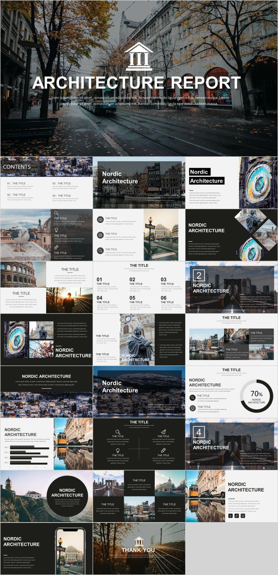 Architectural presentation board templates.