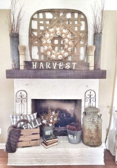 Fall Autumn Halloween Home Decor Fireplace Mantle Ideas By