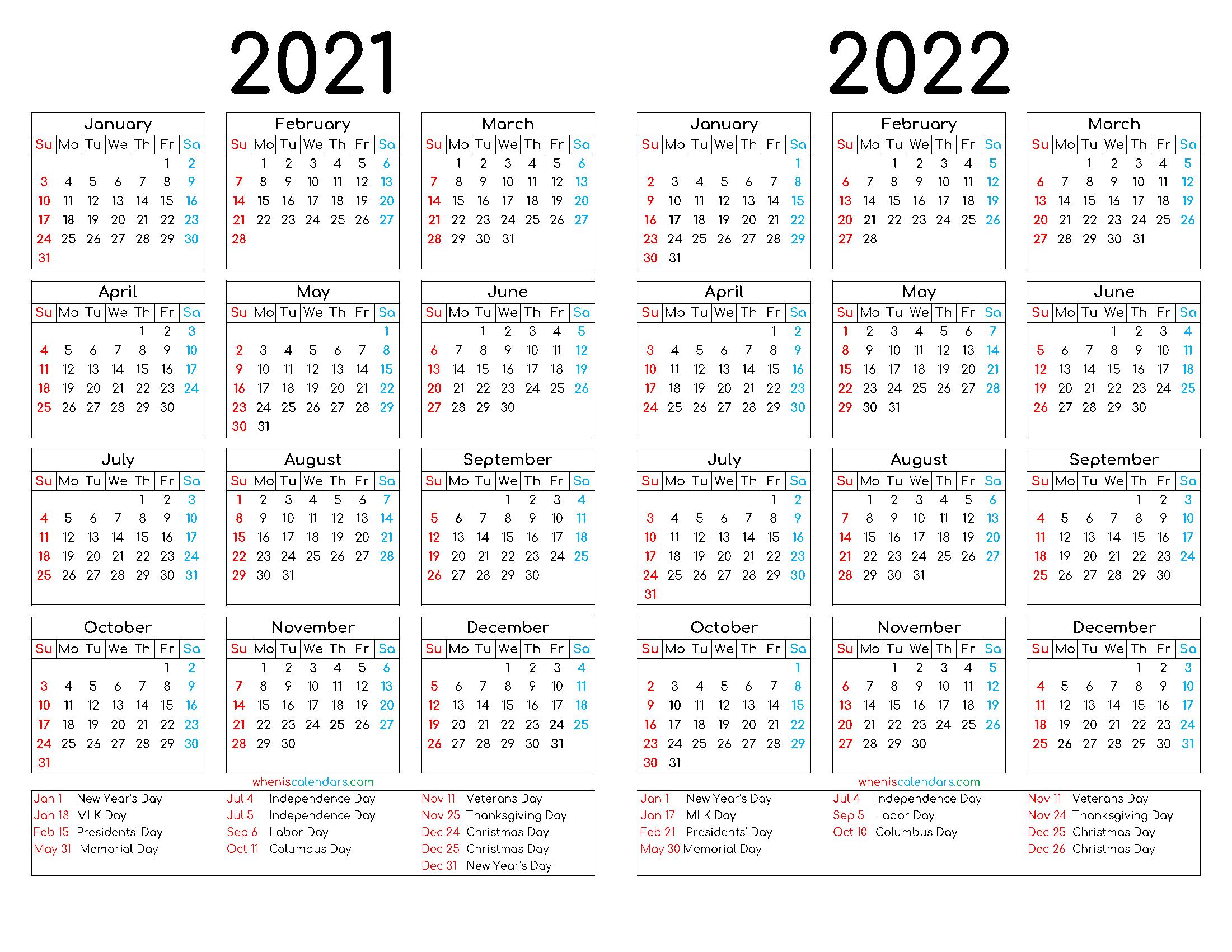 2022 Downloadable Calendar.2021 And 2022 Calendar Printable 12 Templates Calendar Printables Templates Printable Free Calendar