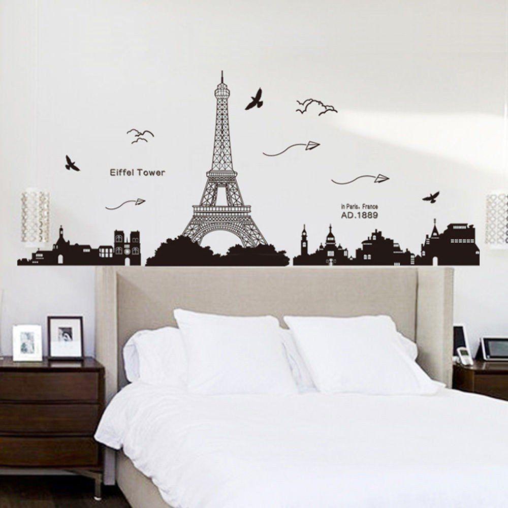 Pegatina de pared vinilo adhesivo decorativo para cuartos for Adhesivos pared dormitorio