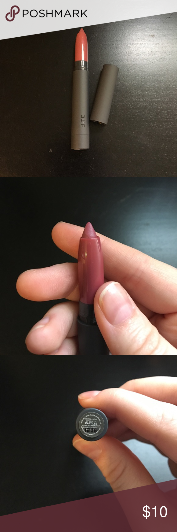 Bite Beauty Matte Creme Lip Crayon Swatched once. Price