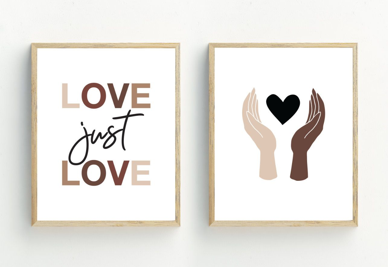 Hands Art Print Set Of 2 Equality Prints Diversity Wall Art Etsy Etsy Wall Art Art Print Set Hand Art