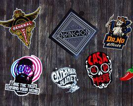 Stickers in verschillende maten en vormen.