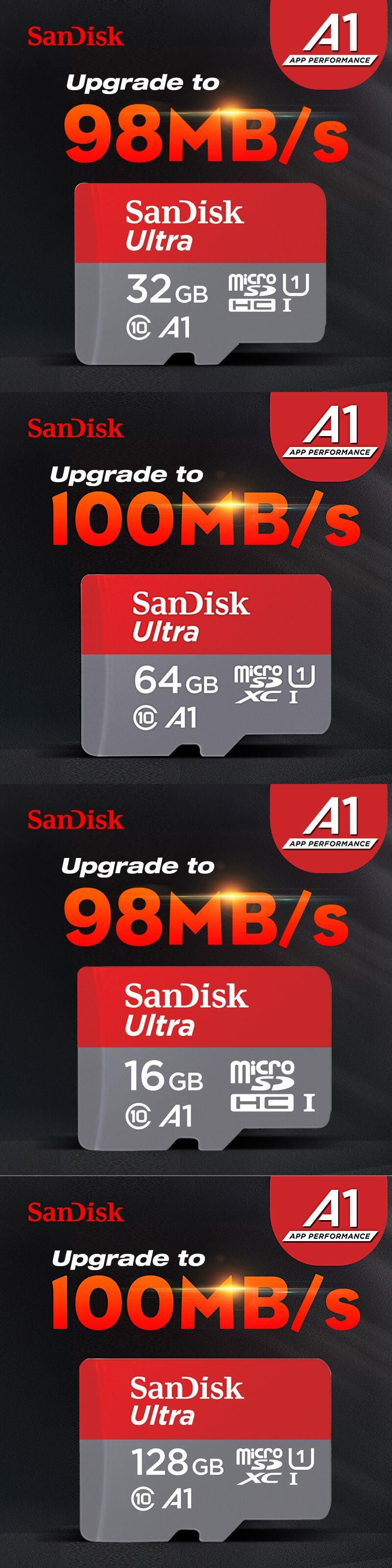Free Shipping Sandisk Micro Sdhc Or Sdxc Uhs I Memory Card 16gb 32gb Ultra 80mb S Class 10 64gb 128gb