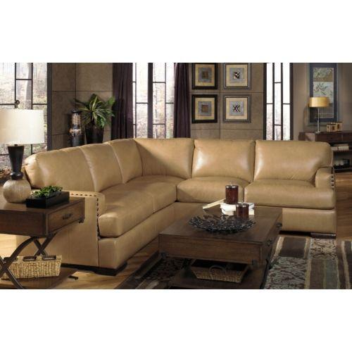 Cajole 2 Piece Leather Sectional at HOM Furniture u003c-- Love the butterscotch color (  sc 1 st  Pinterest : hom furniture sectionals - Sectionals, Sofas & Couches