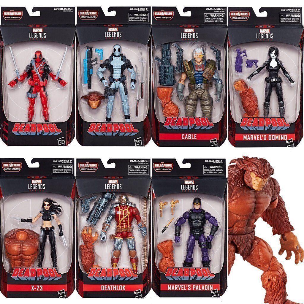 """Marvel Legends DEADPOOL Wave 1-6/"""" action figure set SASQUATCH BAF"""