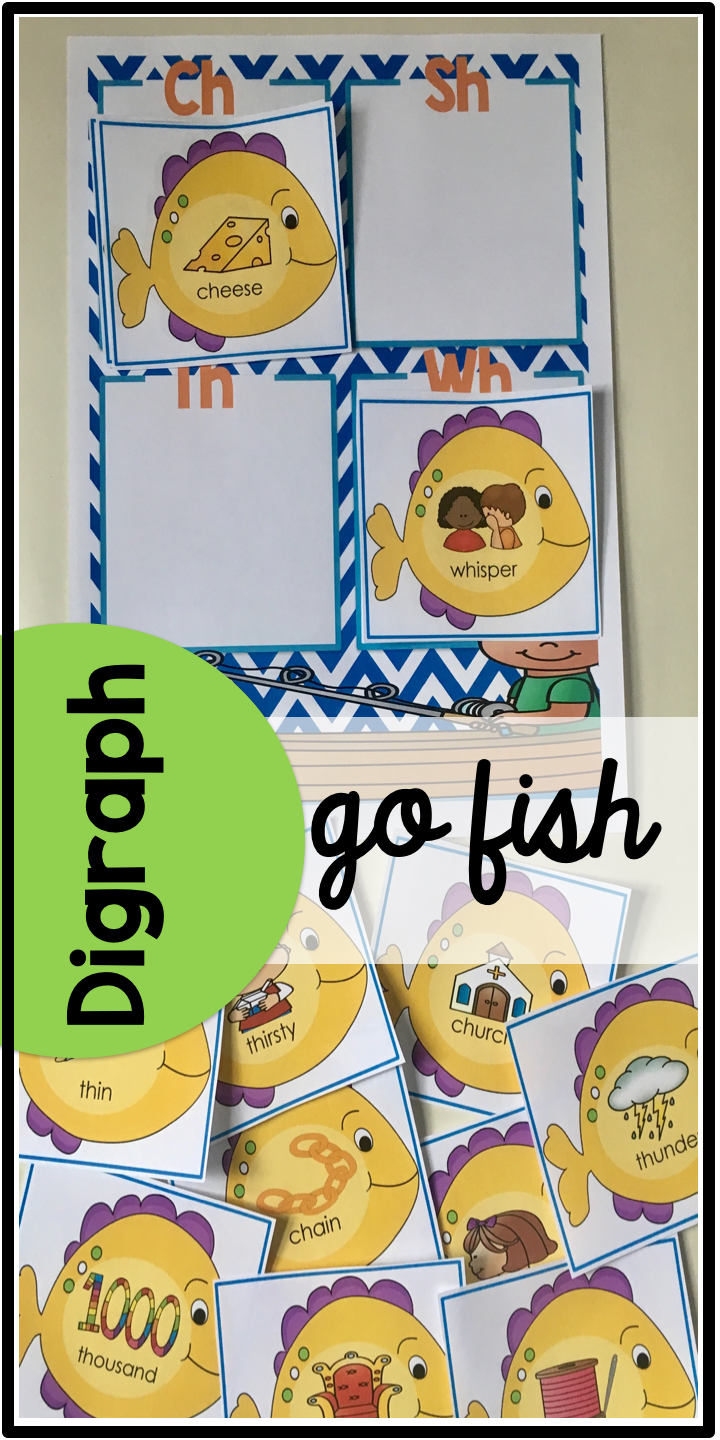 go fish digraph review game ch sh th wh digraphs pinterest