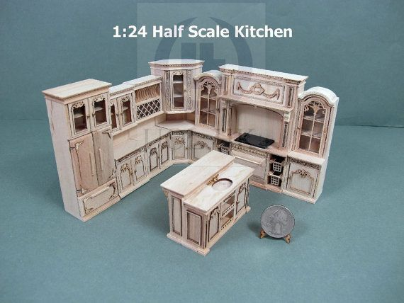 Image Result For 1:24 Scale Kitchen Templates · Miniature FurnitureDollhouse  ...