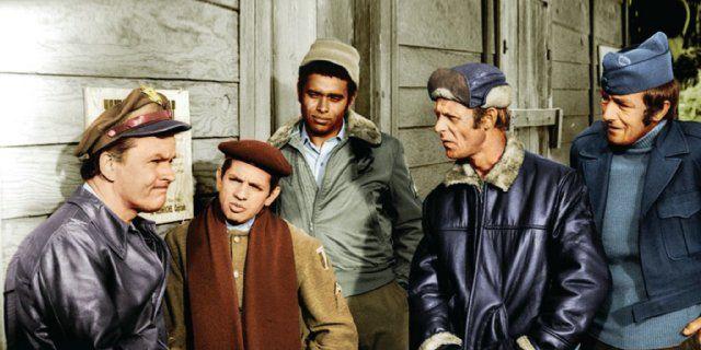 Still of Robert Clary, Bob Crane, Richard Dawson, Larry Hovis and Kenneth Washington in Hogan's Heroes