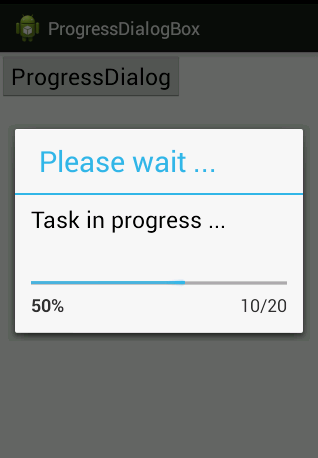 How To Use Progress Dialog Box In Android   Tricks Of IT