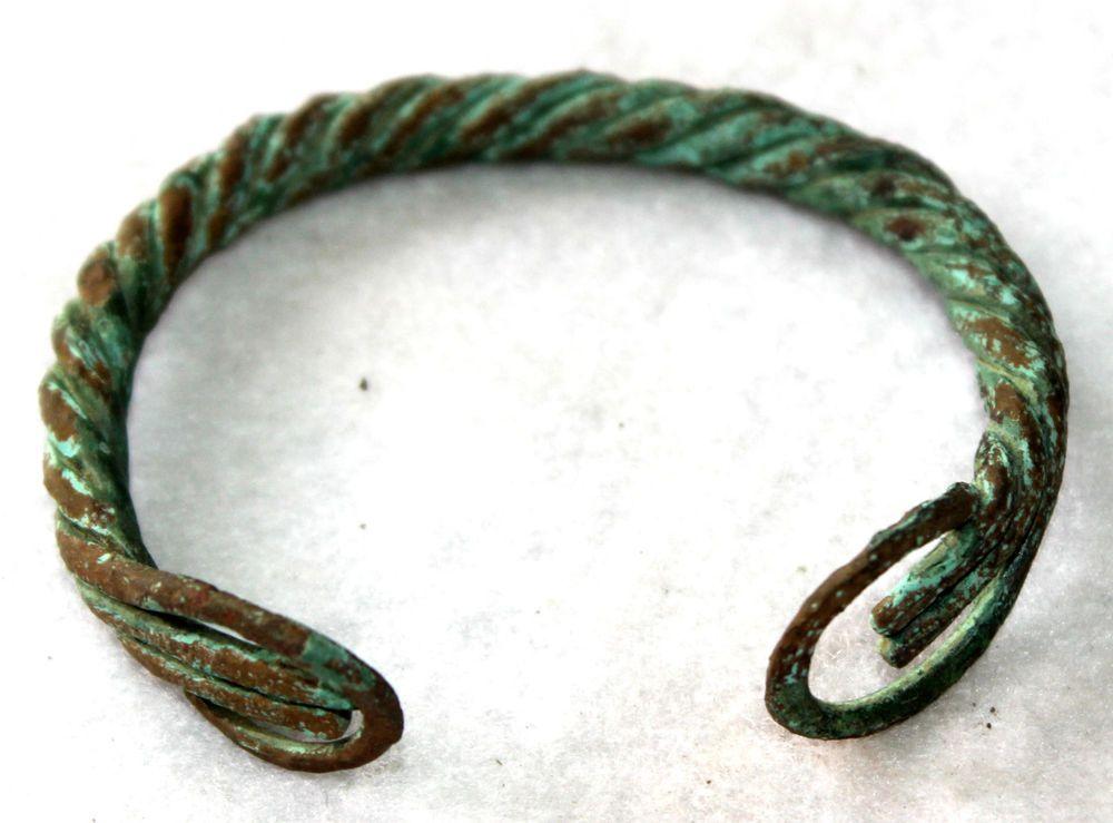 Viking,Scandinavian Twisted Bronze Wire Bracelet-800-1100 AD ...