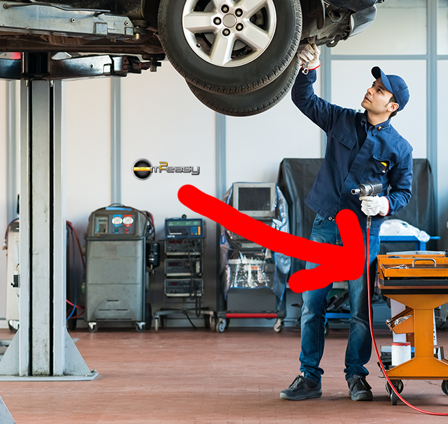Auto Park Chrysler Jeep Service: See The Airhose Coming From The #mechanics Hand? M2Easy