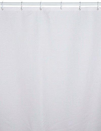Pinstripe Seersucker Shower Curtain