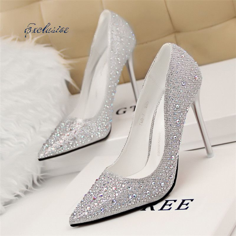 Fashion Trend Of Black Silver Pumps Promotion For Promotional