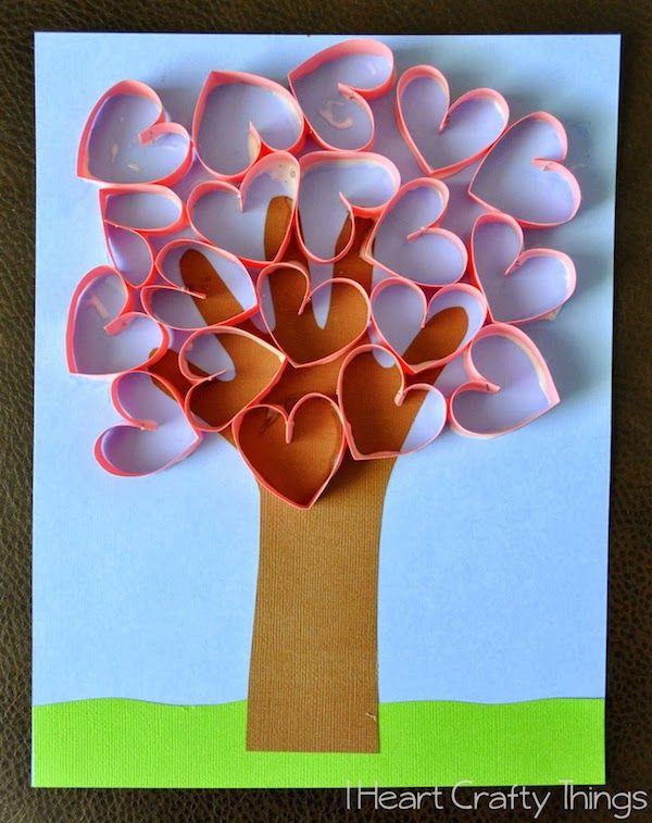 5 Manualidades De San Valentin Para Ninos Work Tree Crafts