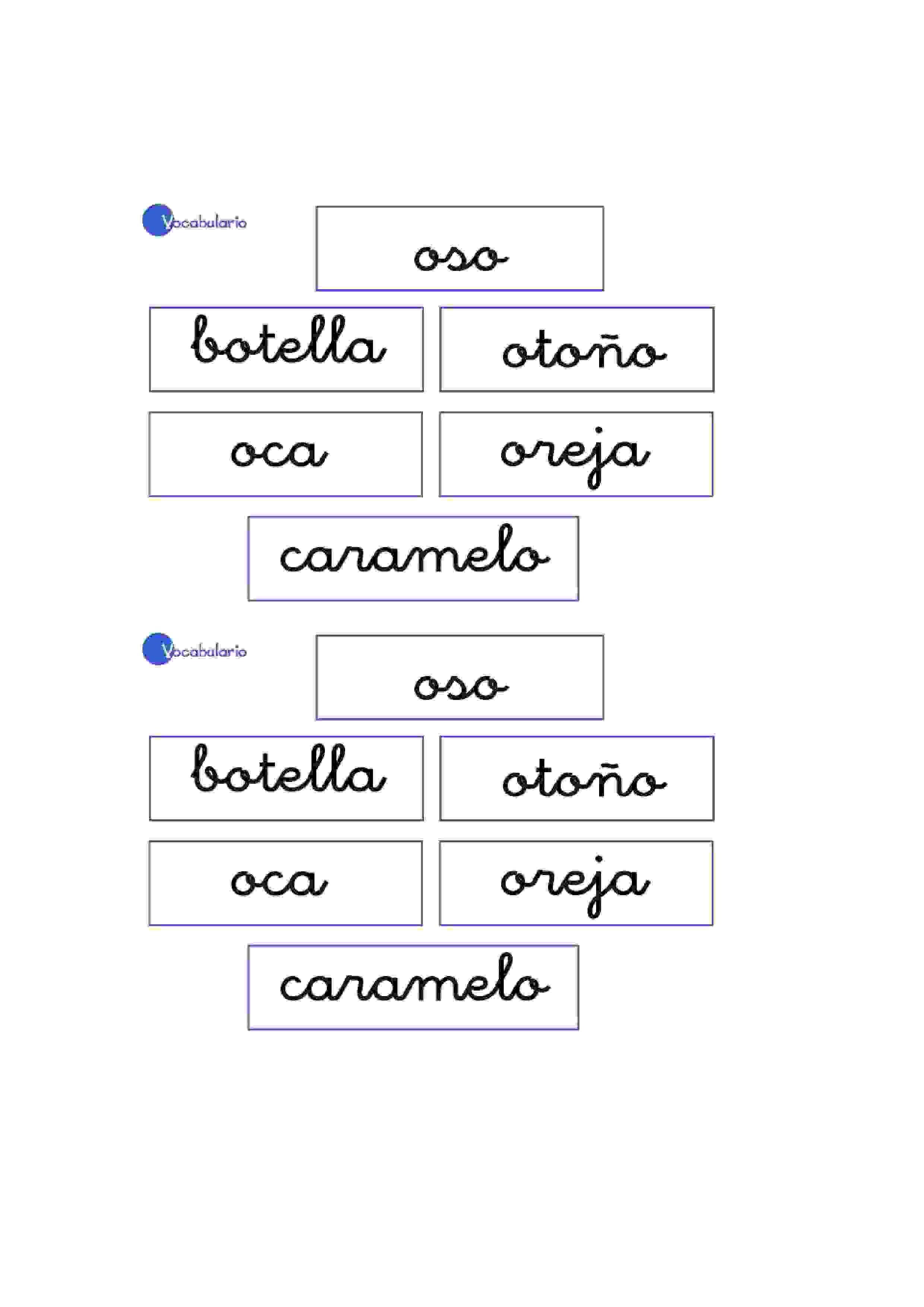 Lernübungen für kinder zu drucken. Vokabular Spanisch zu lernen 16 ...