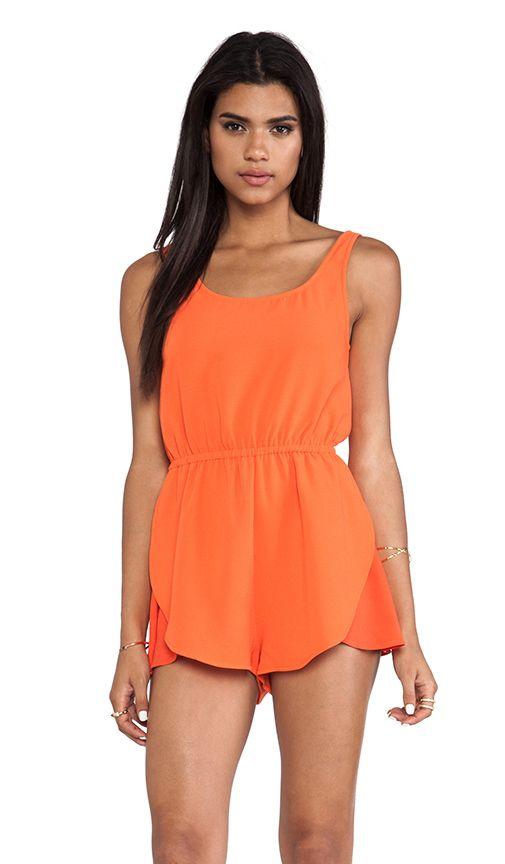 58b447827c63 Playsuit in orange- perfect summer piece