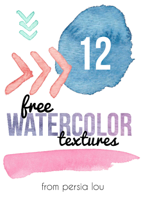 12 free watercolor textures via Persia Lou