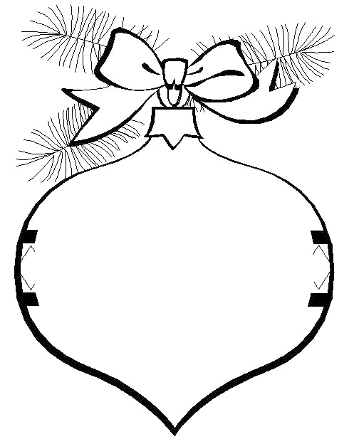 christmas ornament that garnished with ribbons and leaves coloring page christmas coloring pages kidsdrawing free coloring pages onlin