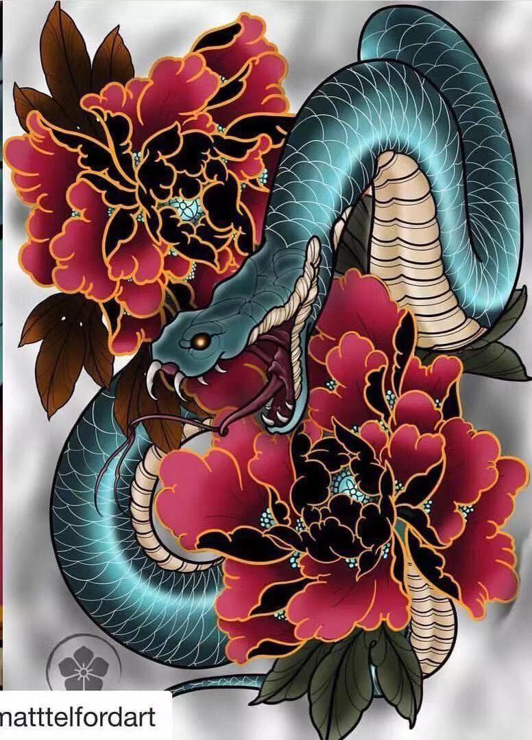Pin By Randy Gobert On Tattoo Snake Tattoo Design Japanese Tattoo Japanese Snake Tattoo