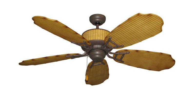 Cane Isle Tropical Ceiling Fan W 52 Rattan Blades