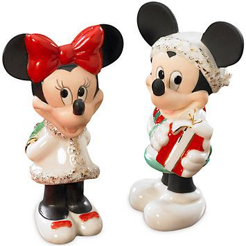 LENOX Your Home: Salt & Pepper Sets - Disney's Mickey & Minnie Salt & Pepper Set