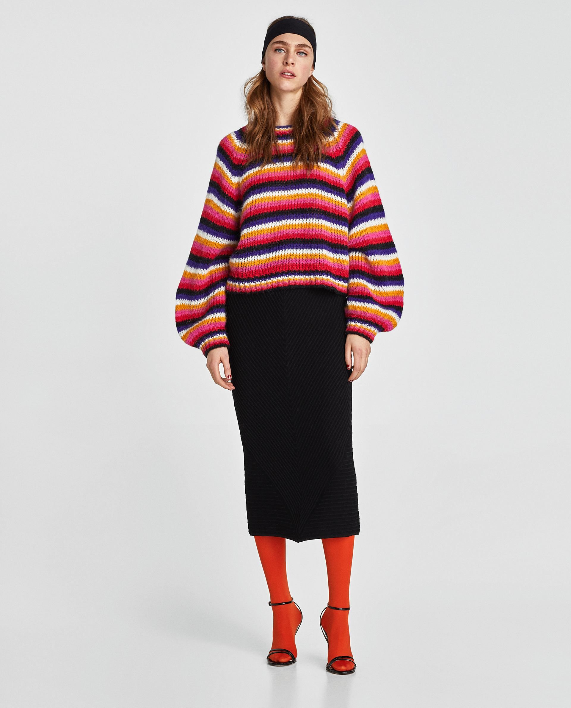 c0acac58 ZARA - WOMAN - MULTICOLORED STRIPED SWEATER | Clothes to buy ...