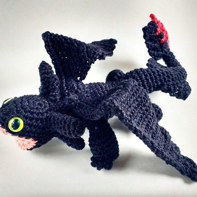 Amigurumi pattern for dragon, Toothless crochet pattern ...