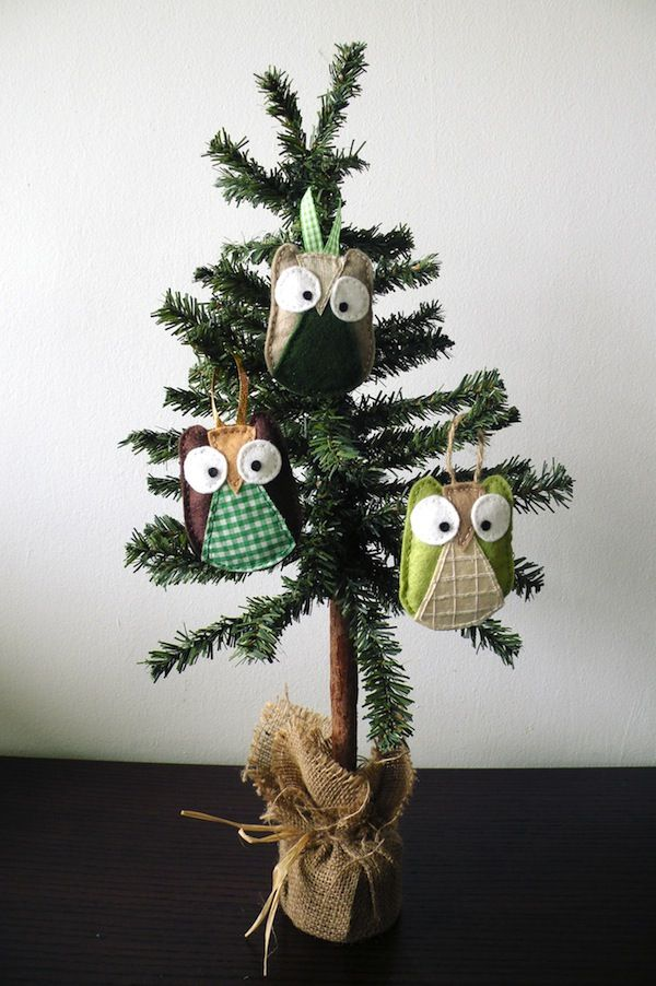 DIY Cute Owl Ornaments #christmas #crafts
