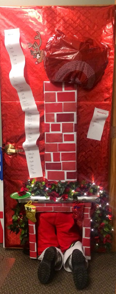 Christmas Door Decoration. This is a 3D display featuring a ...