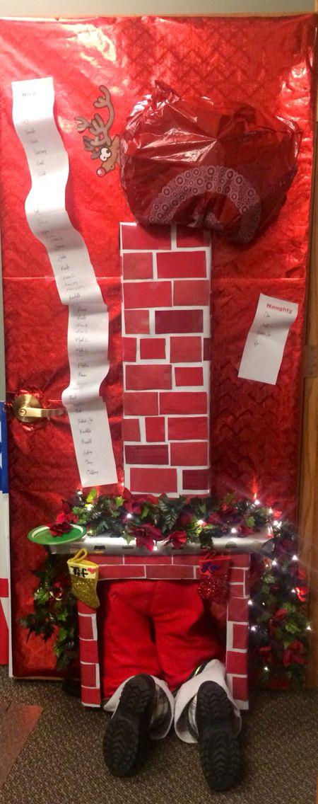 Christmas Chimney Door Decorations   www.indiepedia.org