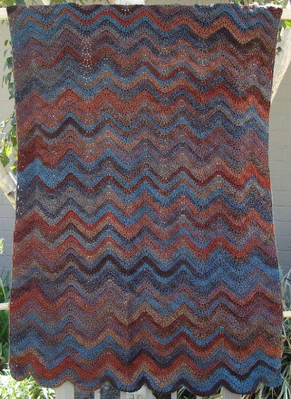 Woodland Ripple Afghan using Lion Brand Tweed Stripe yarn | Crochet ...