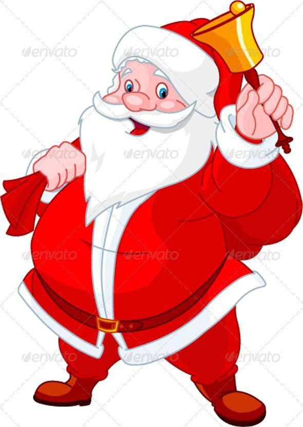 happy santa with bell santa cartoon santa claus drawing christmas cartoons santa cartoon santa claus drawing