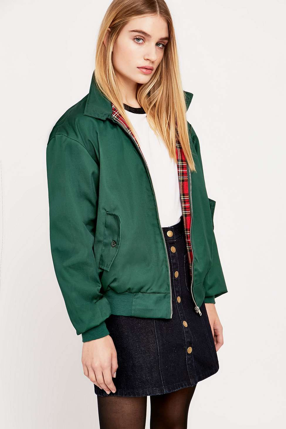 Urban Renewal Vintage Surplus Green Harrington Jacket