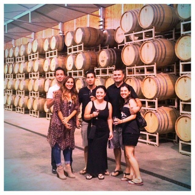 Wine tasting with friends. emojiemoji #ADWinery #AquaDulce #Winery