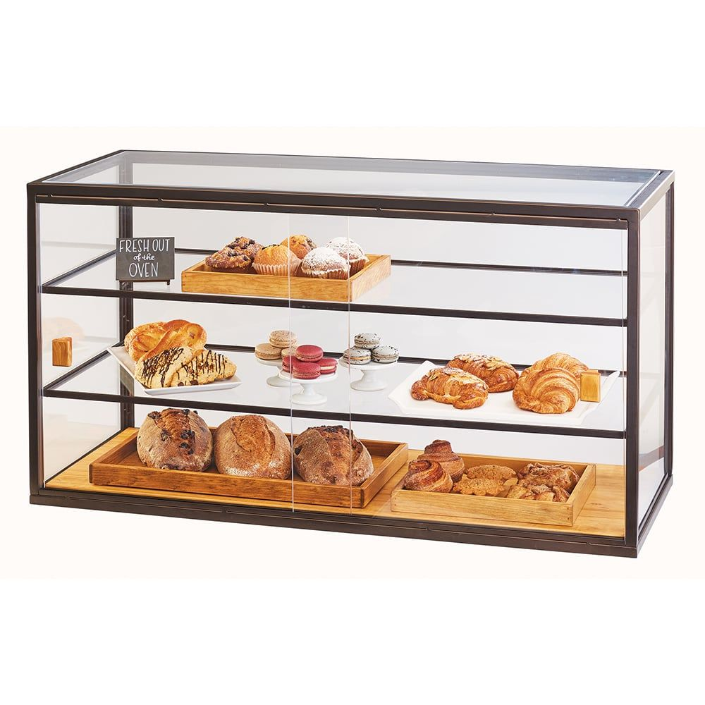 Cal Mil 3695 84 3 Tier Full Service Pastry Display Case W Sliding