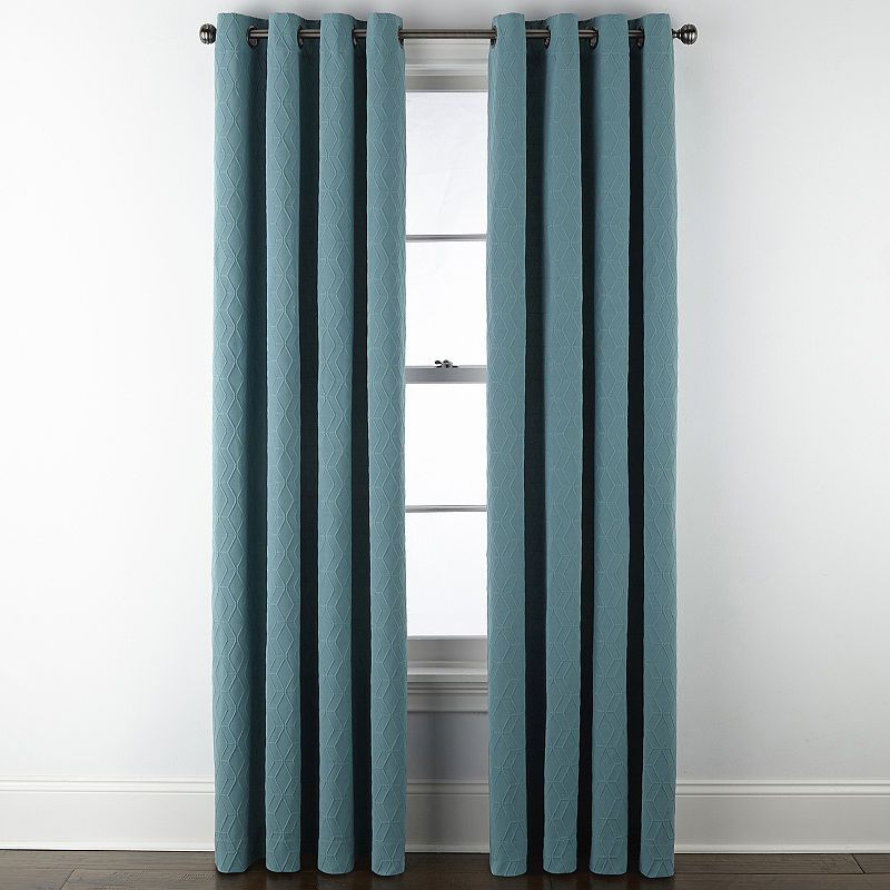 Jcpenney Home Beckett Blackout Grommet Top Curtain Panel Grommet Top Curtains Panel Curtains Curtains