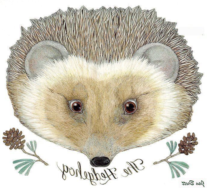 The Mitten Transfer Hedgehog Woodland animals party
