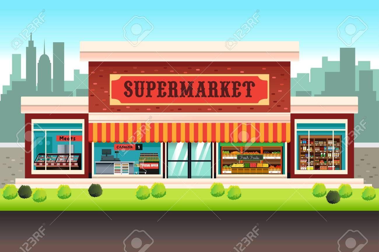 Supermarket Clipart Images Grocery Supermarket Supermarket Grocery Store