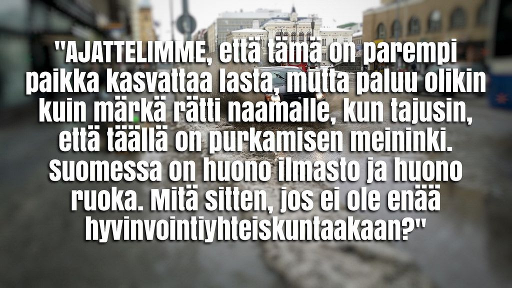 Suomi - kuin märkä rätti: http://www.hs.fi/m/kulttuuri/a1443584597460 #lottovoittosyntyäsuomeen