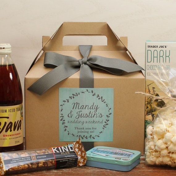 Gift Bags Wedding Out Of Town Guests: Out Of Town Guest Box // Wedding Welcome Box