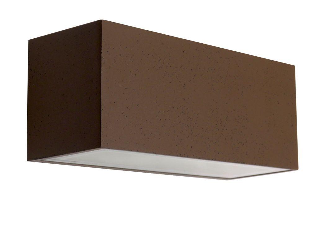 Applique Esterno Moderno : Applique lampada per esterno moderno rustico rettangolare