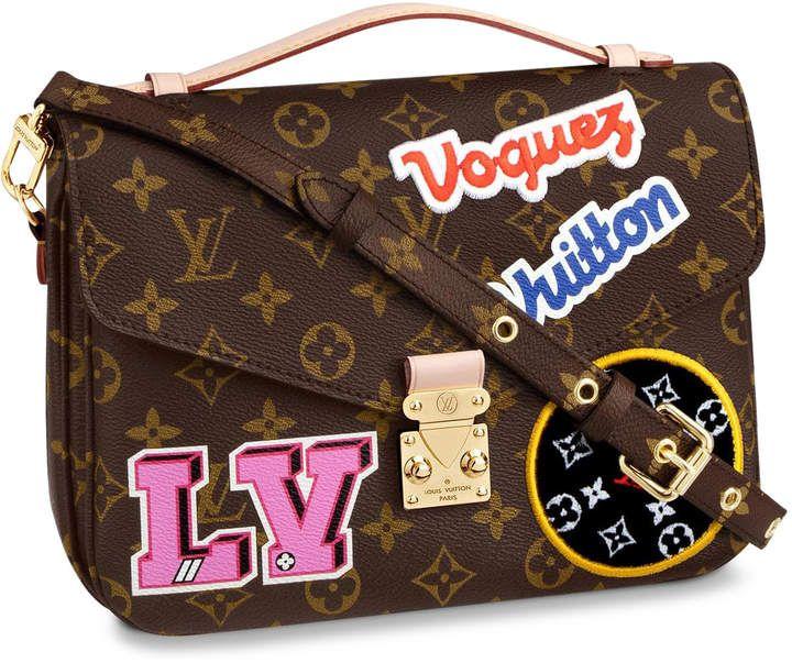 04c2a604b078 Louis Vuitton Pochette Metis Monogram Patches Brown Multicolor in ...